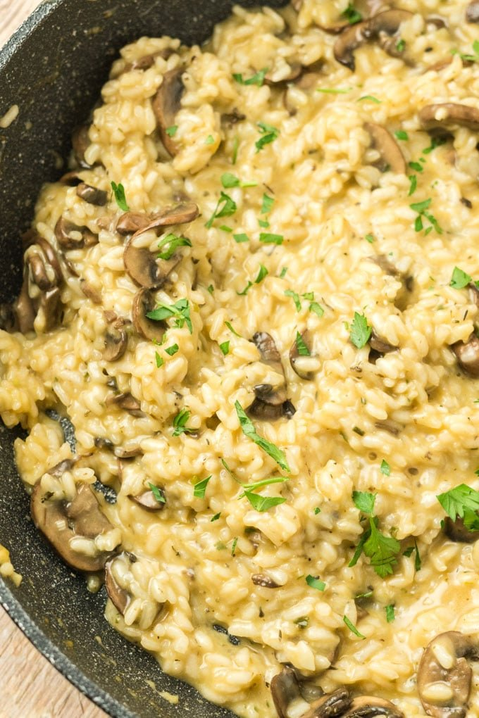 Easy Mushroom Risotto Recipe Side Or Main Dish Kylee Cooks