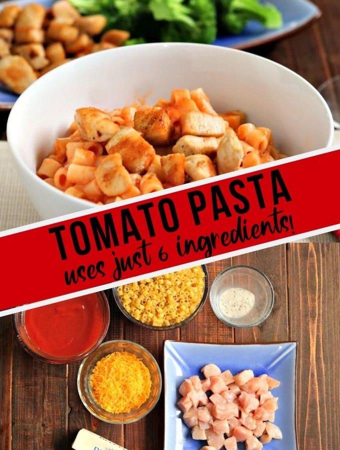 tomato pasta in a bowl