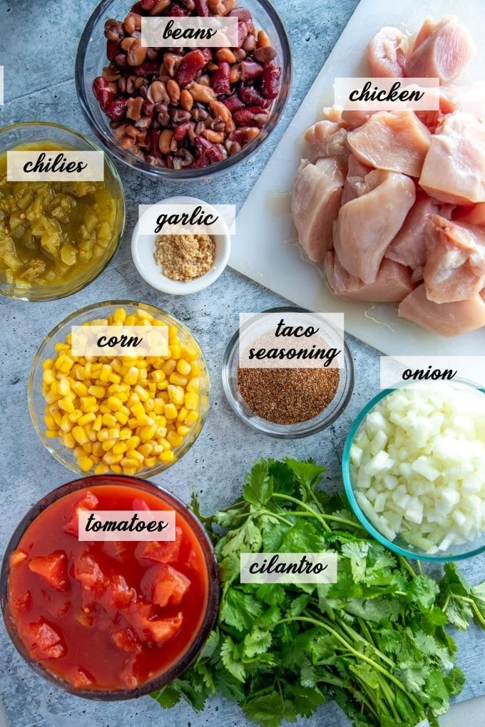 ingredients in instant pot chili