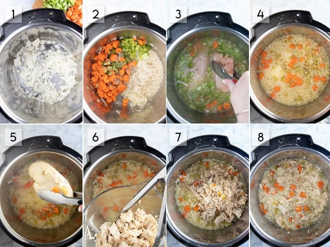 step by step instructions to make chicken and rice