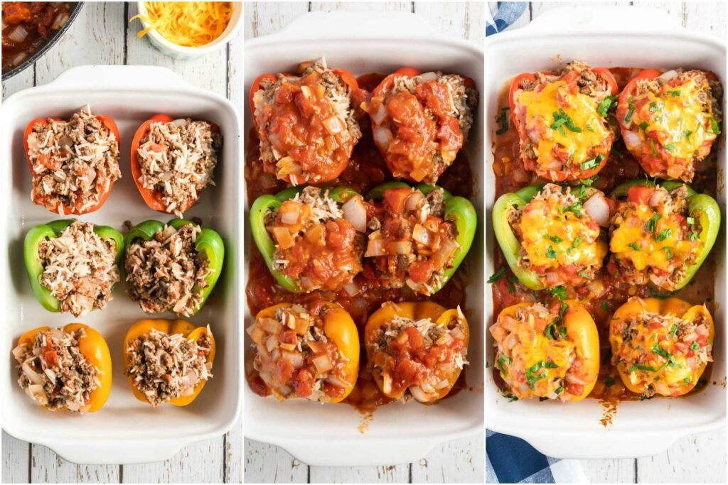 Italian Stuffed Peppers - assembly (step by step)