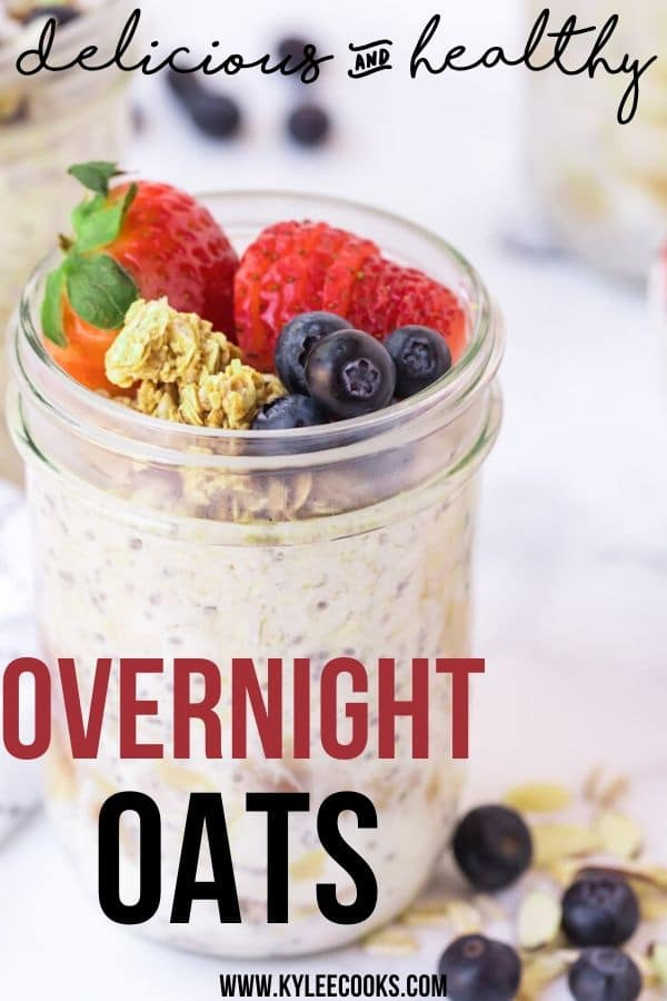 overnight oats pin with text overlay