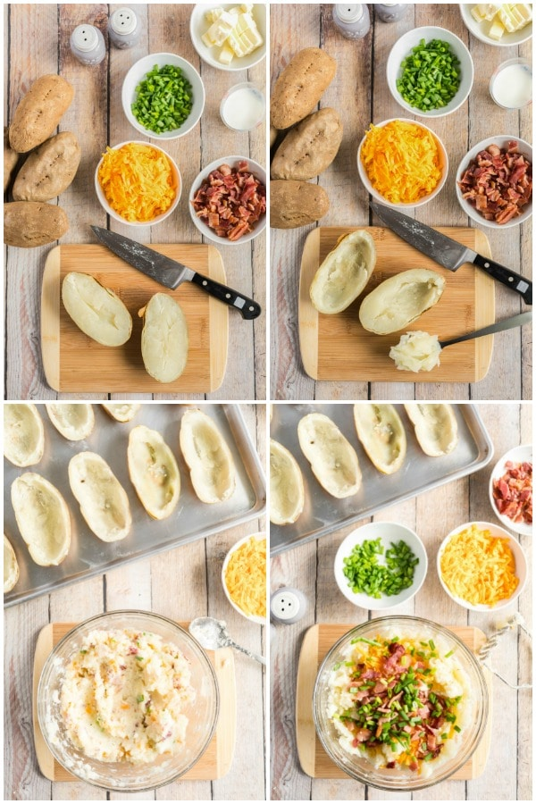 Twice Baked Potatoes - how to make the filling