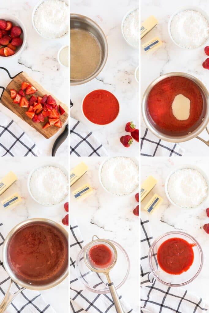 How to make strawberry puree