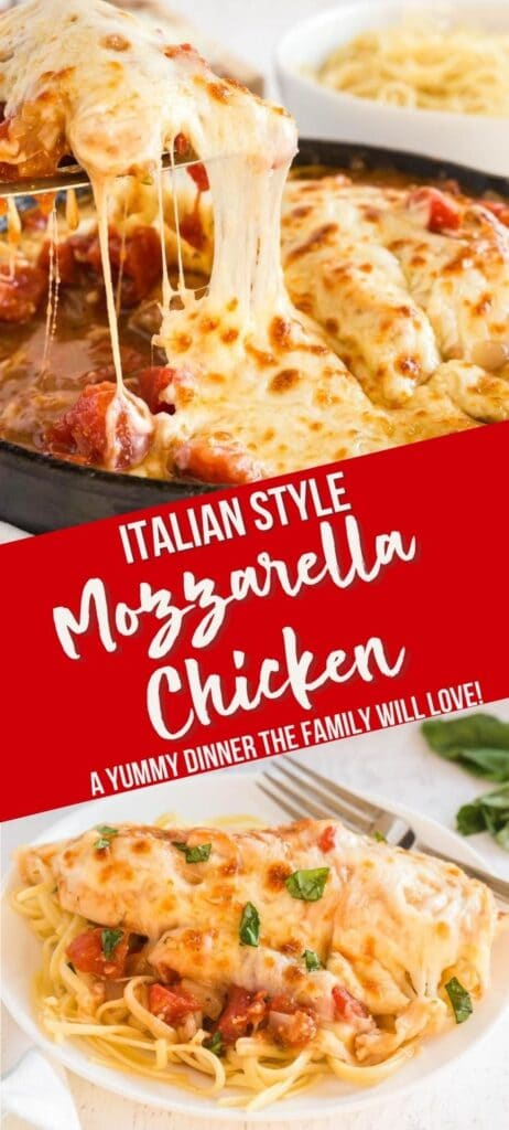 mozzarella chicken pin with text overlay