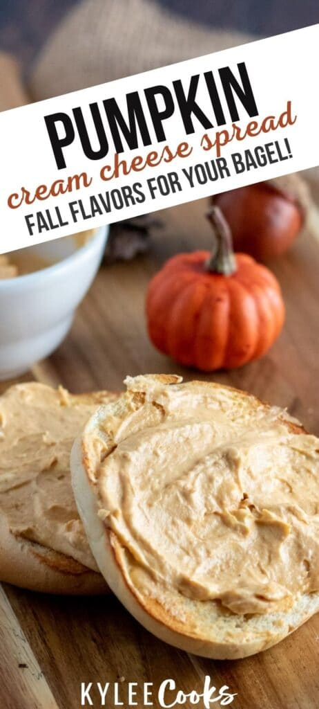 Pumpkin Cream Cheese pin with text overlay