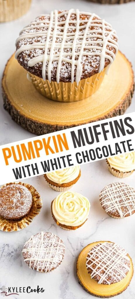 pumpkin muffins pin with text overlay