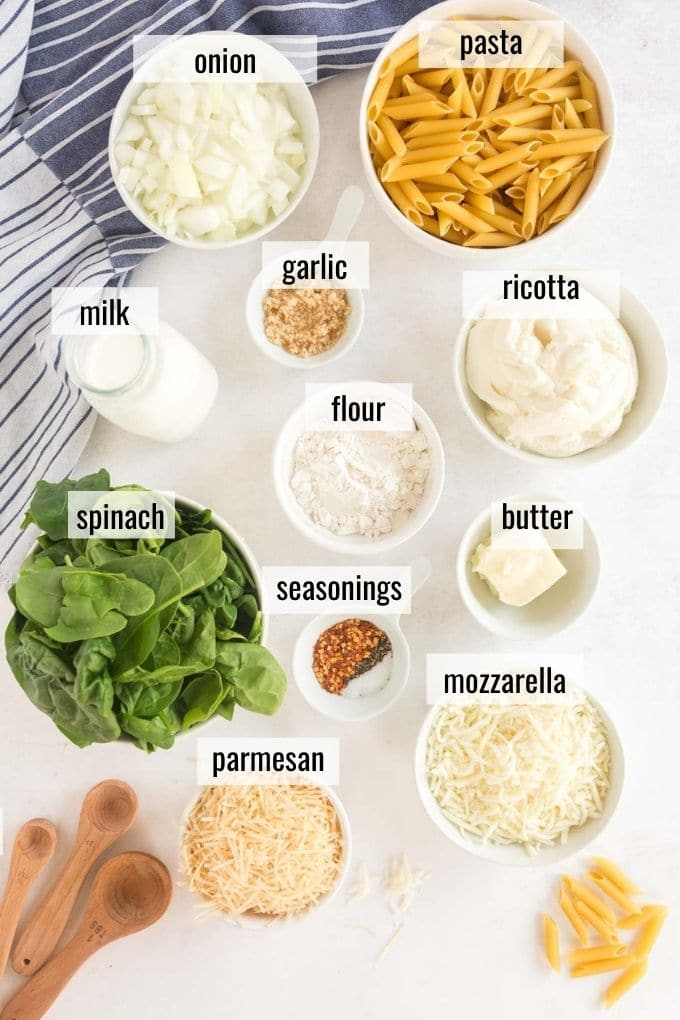 ingredients laid out on a white board
