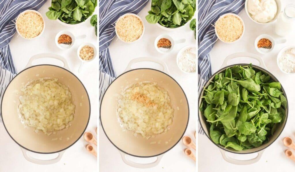 Pasta Florentine (Vegetarian) - steps 1-3