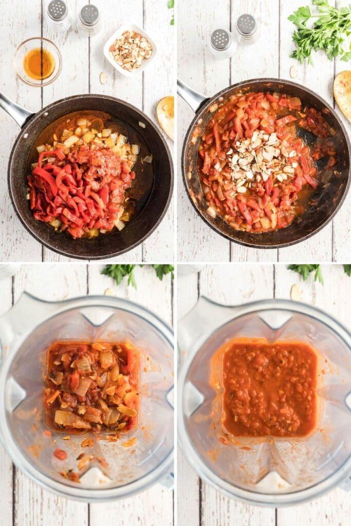 blending romesco sauce
