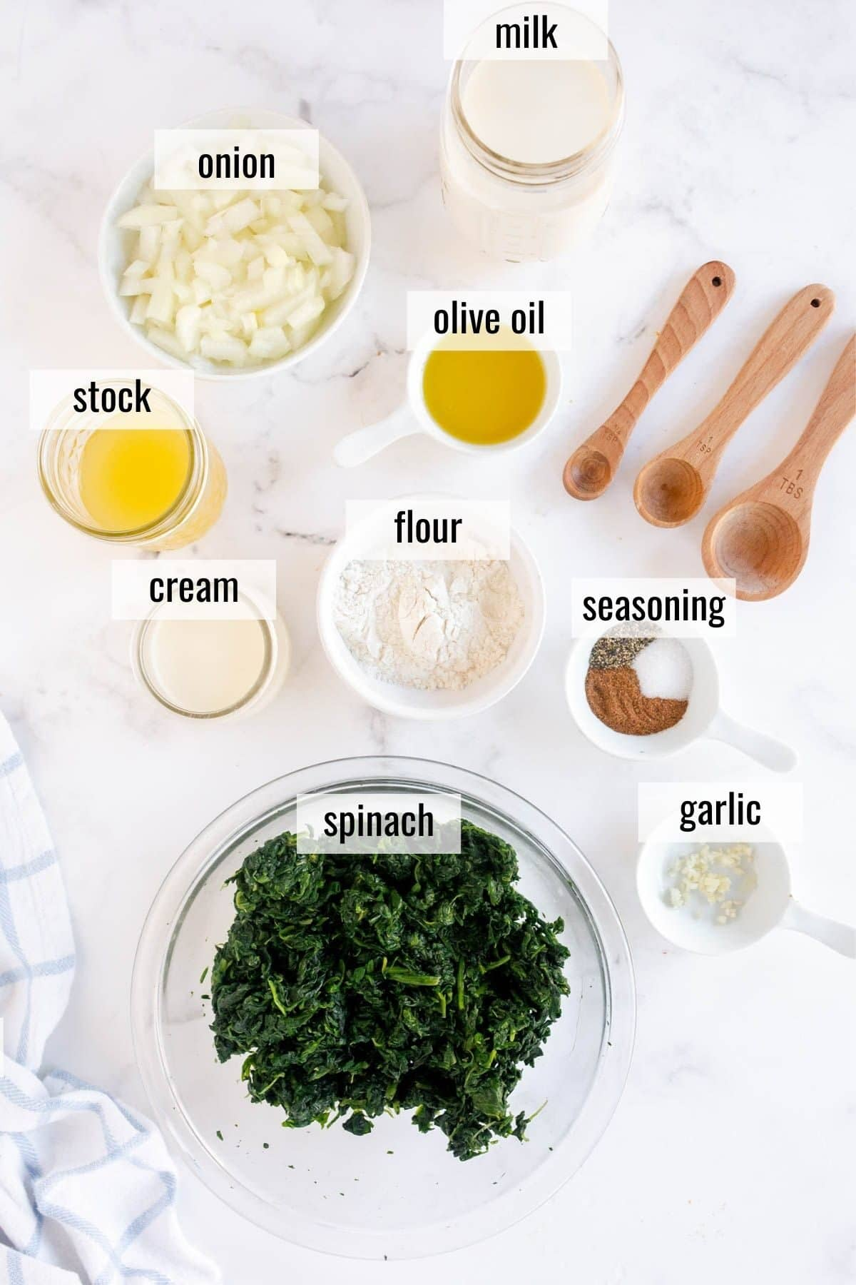 ingredients laid out and labeled
