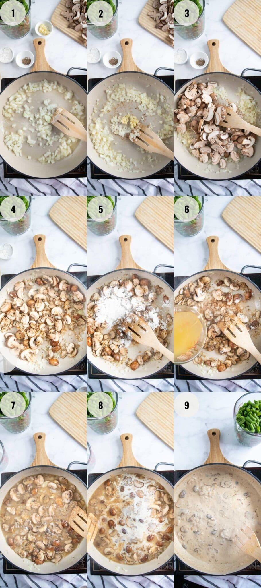 Green Bean Casserole - Steps 1-9