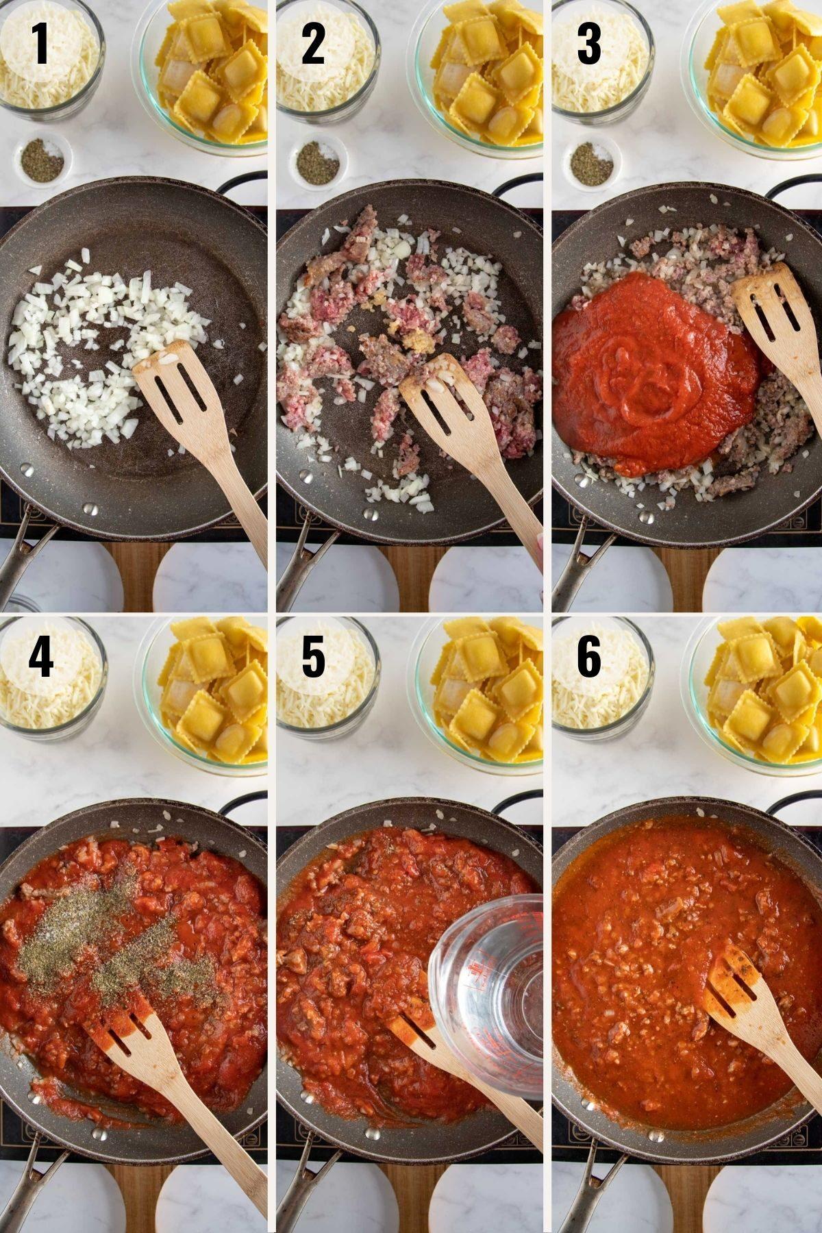 step by step to make sauce for ravioli lasagna