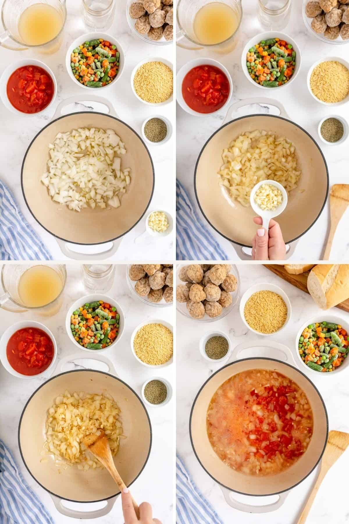 making soup step by step photos