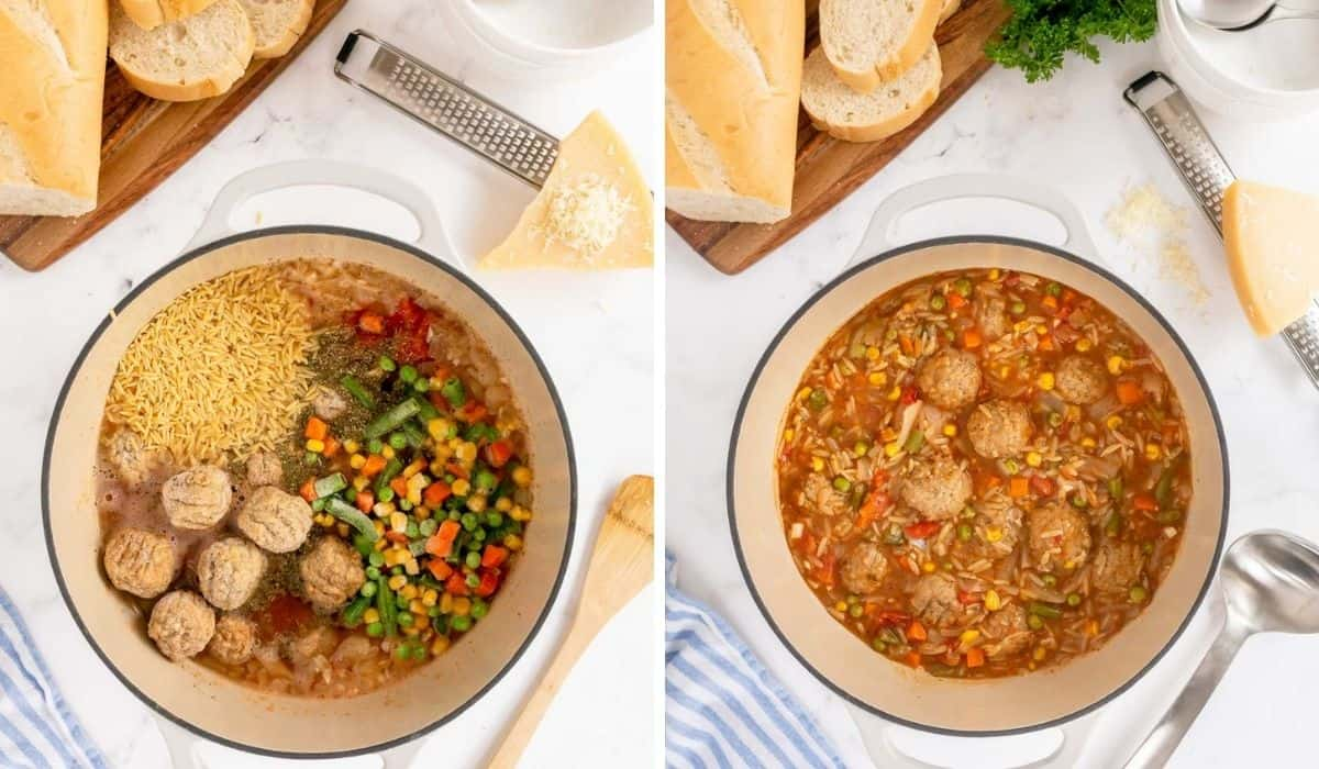 making meatball soup step by step photos