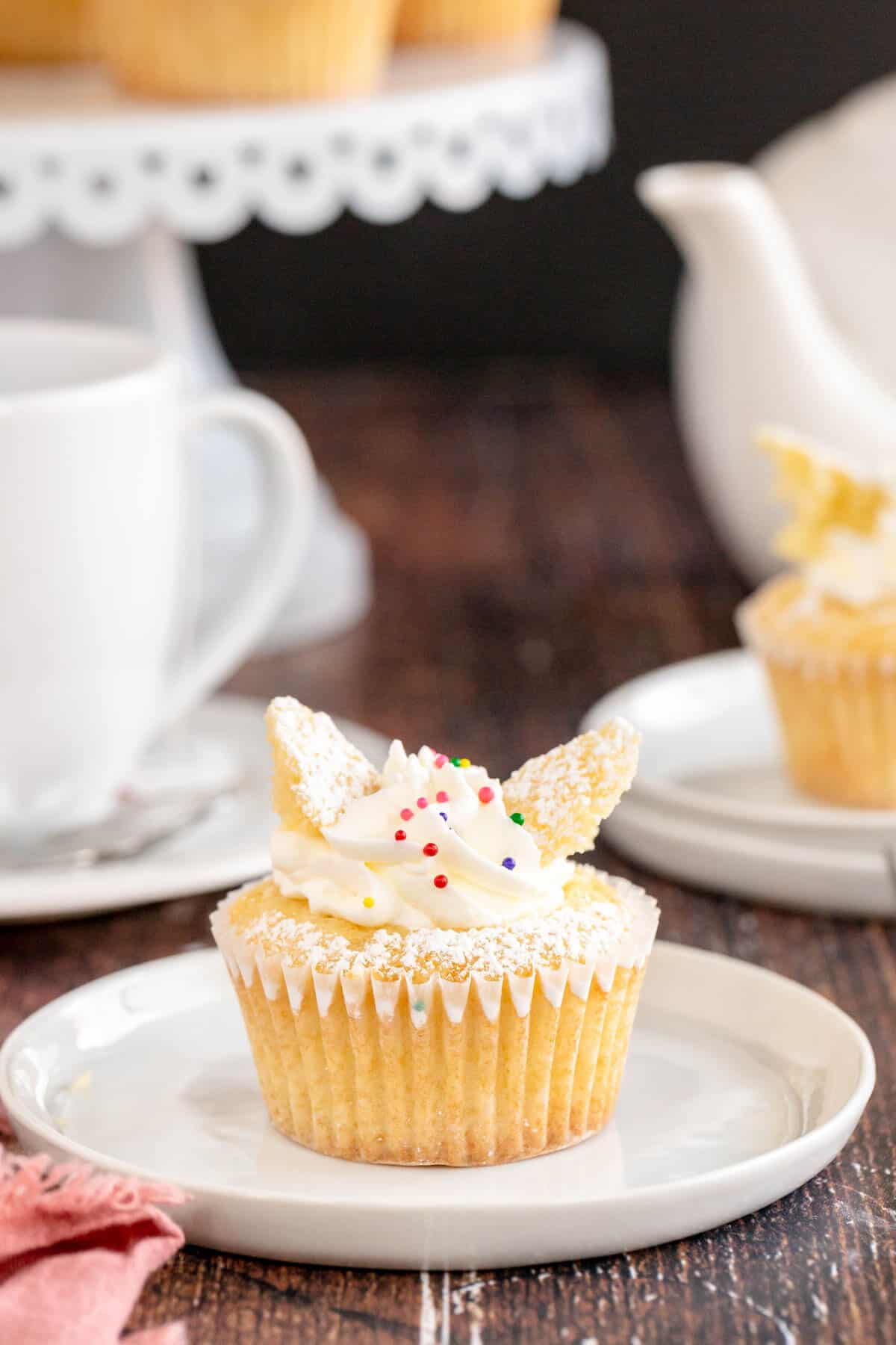 butterfly cakes on a plate