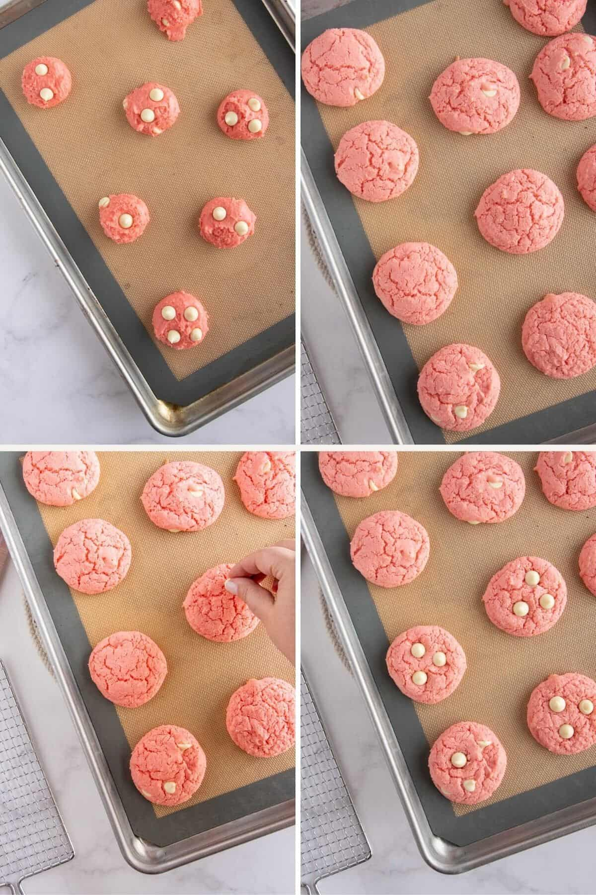 collage of cookie baking