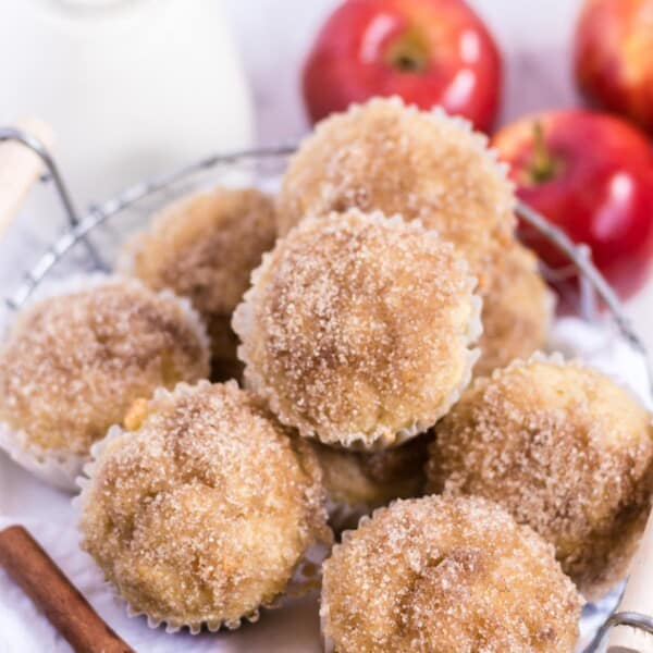 applesauce muffins in a basket