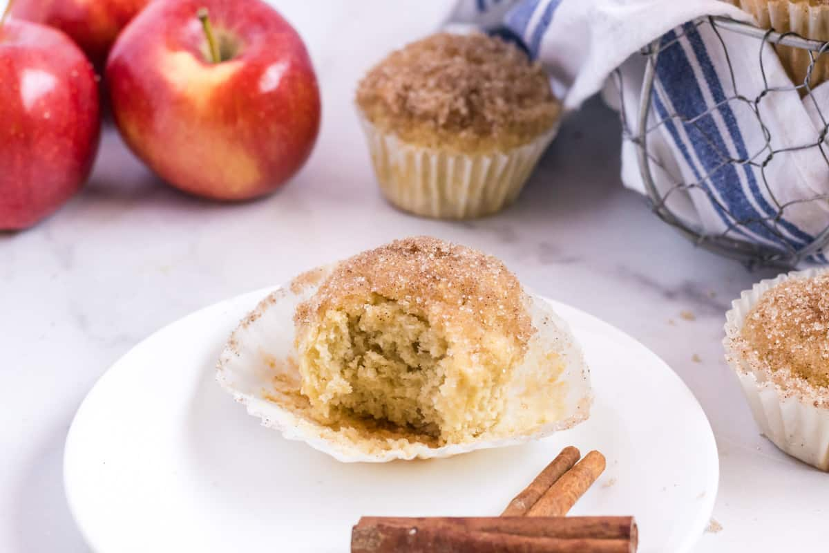 applesauce muffin on a plate